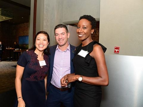 Propeller Executive Director Andrea Chen, GNO Inc. President & CEO Michael Hecht, Propeller Sr. Director of Policy & Programs Krystal Allen.